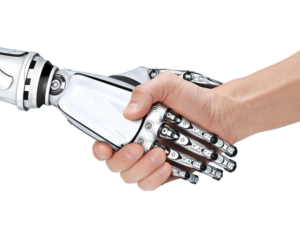 картинка рука робота и человека этому